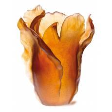 """Ваза для цветов """"Tulipe"""" янтарная Daum 03574"""