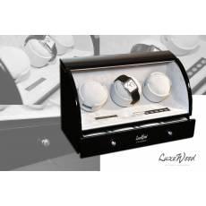 Шкатулка с автоподзаводом для 3-х часов с выдвижным ящиком для хранения 3-х часов и запонок LuxeWood LW323-1