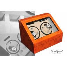 Шкатулка с автоподзаводом для 4-х часов LuxeWood LW642-11