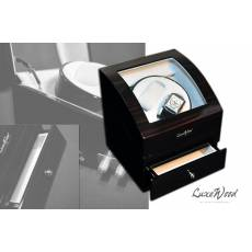 Шкатулка с автоподзаводом для 2-х часов с выдвижным ящиком для хранения драгоценностей LuxeWood LW721-5