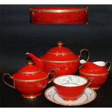 "Чайный сервиз на 6 персон ""Узоры"" Glance GS2-001/J05-165G-15"