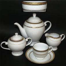 "Чайный сервиз на 6 персон ""Квадрат"" Glance F06-051G-15"