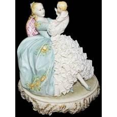 "Статуэтка ""Мама с младенцем"" Porcellane Principe 1077/PP"