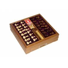 Большой игровой набор из березы: шахматы, шашки, нарды, домино, карты, кости, покерные фишки Rovertime RTV-31