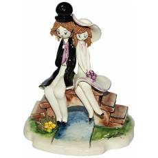"Скульптура ""Маленькая пара сидящая на мосту"" Zampiva 70220/Z"