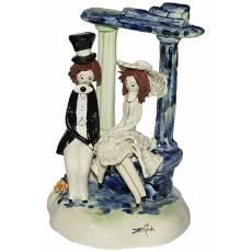 """Скульптура """"Пара сидящие под аркой"""" Zampiva 70029/Z"""