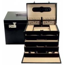 Шкатулка для украшений и драгоценностей с выдвижными ящичками и двумя автоматическими замками WindRose WR3246