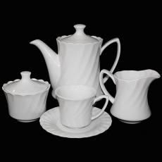 """Чайный сервиз на 6 персон """"Волны"""" Glance GGK-G-15/W"""