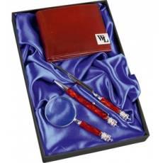"""Набор: портмоне, ручка шариковая, лупа, нож для бумаг """"Принц Уэльский"""" 568409"""
