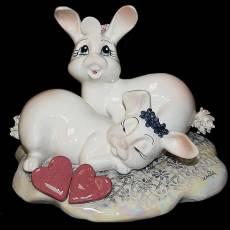 "Статуэтка ""Влюблённая пара кроликов"" Zampiva 91085/Z"