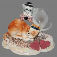 "Статуэтка ""Сердечная пара кошек"" Zampiva 91079/Z"
