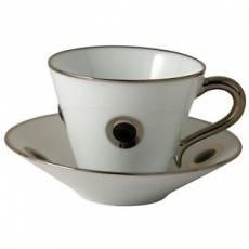 """Чашка чайная с коричневым рисунком """"Ithaque Platine"""" BERNARDAUD 8948IthaquePlatine"""