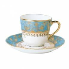 """Кофейная чашка с блюдцем """"Eden Turquoise"""" BERNARDAUD 81EdenTurquoise"""