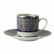 """Кофейная чашка с блюдцем """"Eventail Blue"""" BERNARDAUD 79EventailBlue"""