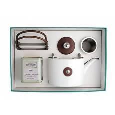 "Набор из чайника и чая ""Shanghai Matte brown-silver"" BERNARDAUD 8459ShanghaiMattebrown-silver"
