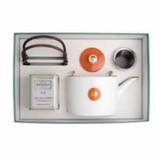 """Набор из чайника и чая """"Shanghai orange-gold"""" BERNARDAUD 8459Shanghaiorange-gold"""