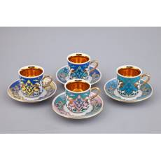 "Кофейный набор из 4-х чашек ""Habibi"" Rudolf Kampf  02150413-2011"