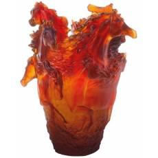 "Ваза для цветов ""Лошадь"" оранжевая 500 экз. ""Cheval"" Daum 05358"