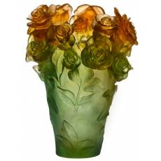 """Ваза для цветов зелено-оранжевая """"Rose Passion"""" Daum 05282-2"""