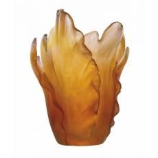 """Ваза для цветов """"Tulipe"""" янтарная Daum 05213-1"""