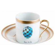 """Чашка """"Императорские яйца"""" кофейная с блюдцем Faberge 6500-45G"""