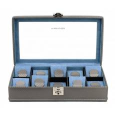 """Шкатулка для хранения 10 часов """"Carbon"""" Friedrich Lederwaren от Champ-Collection 32048-9"""