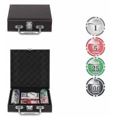 "Набор для покера ""Leather Brown"" на 100 фишек Lbrown100"