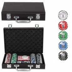 "Набор для покера ""Leather Brown"" на 200 фишек Lbrown200"