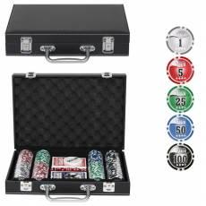 "Набор для покера ""Leather Black"" на 200 фишек Lblack200"