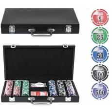 """Набор для покера """"Wood"""" на 300 фишек w300"""