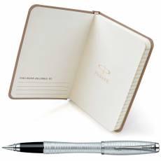 Подарочный набор: Перьевая ручка Parker Urban Premium Vacumatic F206 Silver-Blue Pearl + блокнот 1935009
