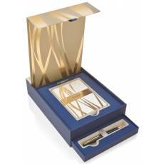 Подарочный набор: Шариковая ручка Waterman Carene + набор открыток 1937585