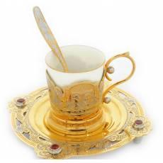 Кофейный набор с гербом РФ Златоуст Авторские работы RV25050CG