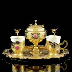"""Кофейный набор на 2 персоны """"Пчелки"""" Златоуст RV0033626CG"""