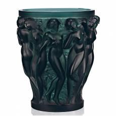 """Ваза для цветов зелёная """"Bacchantes"""" Lalique 10547200"""
