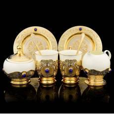 Набор кофейный на 2 персоны с сахарницей Златоуст RV0042709CG