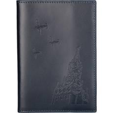 """Обложка для паспорта """"Над спасской башней"""" Gourji G04P-BLU"""