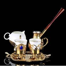 Кофейный набор на 2 персоны с туркой Златоуст RV0040007CG
