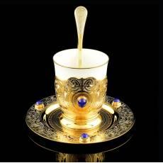 """Набор для кофе """"Лазурит"""" Златоуст RV23603CG"""