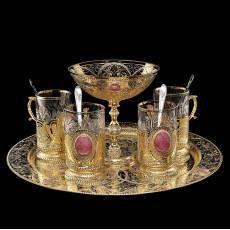 Набор чайный на 4 персоны Златоуст RV0035300CG