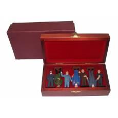 """Набор миниатюр в деревянной шкатулке """"Люди, похожие на ...."""" (7 фигур) 31.45.M"""
