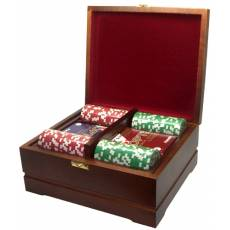 Набор покерный: 250 фишек и две колоды карт RTP-02