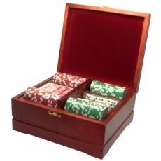 Набор покерный: 250 фишек, колода карт и кости RTP-23