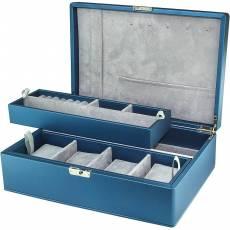 Шкатулка для украшений и 4-х часов Rivoli W-3-5-blue