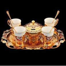 Кофейный набор на 4 персоны. Златоуст RV0015129CG