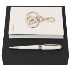 Подарочный набор: блокнот А6, ручка шариковая HPBKM707G