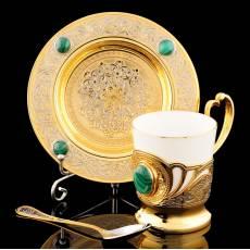 "Чайная пара ""Малахит"" Златоуст RV10495CG"