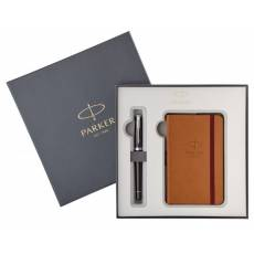 Набор ручка перьевая+блокнот Parker Urban Premium Ebony Metal CT 2018976