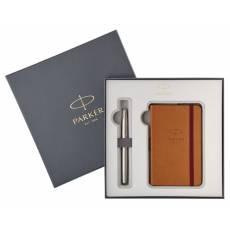 Набор Parker ручка перьевая+блокнот Sonnet Stainless Steel CT 2018973