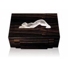 """Шкатулка для украшений """"Zeila"""" коричневая Lalique 10204000"""